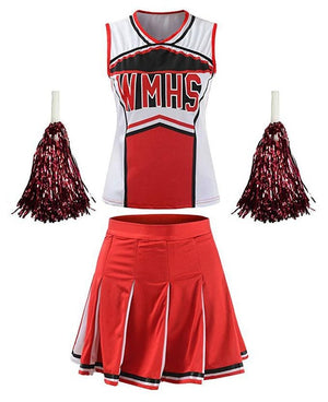 Direct Selling Sexy High School Cheerleading Costume Cheer Girls Cheerleader Uniform Party Outfit Tops with Skirt