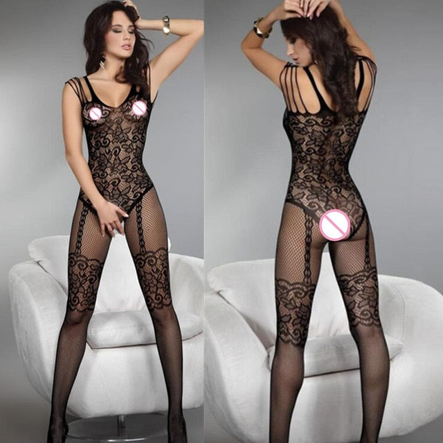 Sexy Fishnet Stockings Open Crotch Mesh Pantyhose  Nylons Stockings - Halloween USA