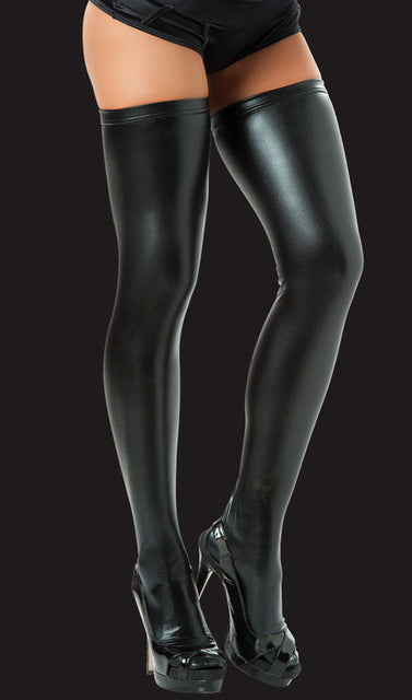 Sexy Latex Wet Look Stockings  PVC - Halloween USA