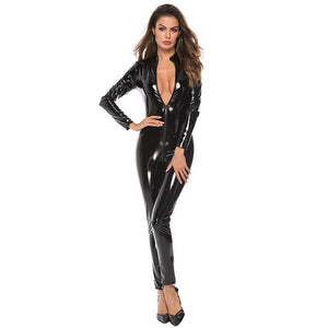 Sexy Latex Look Catsuit - Halloween USA