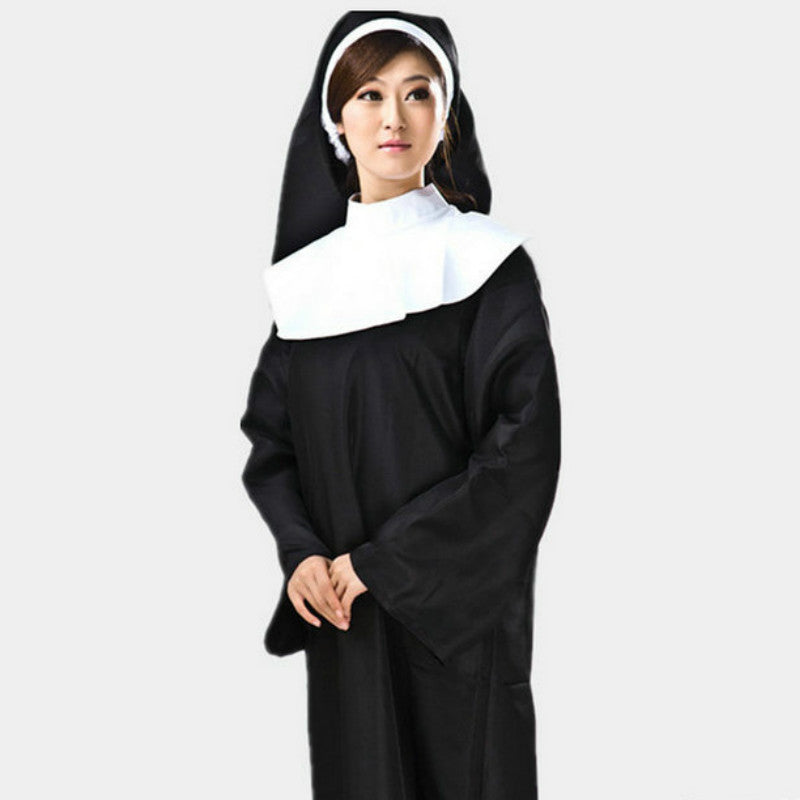 Women Nun Costume - Halloween USA