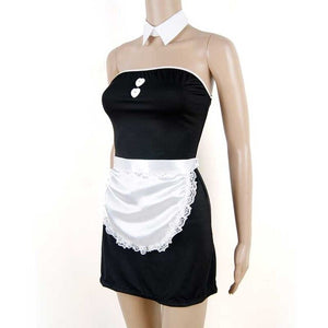 Black & White French Maid  Outfit - Halloween USA