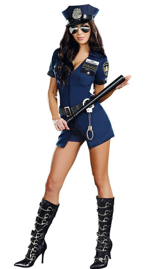 Sexy Blue Police Uniform Policewoman Costumes - Halloween USA