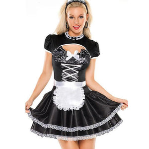 Flirty French Maid Costume - Halloween USA