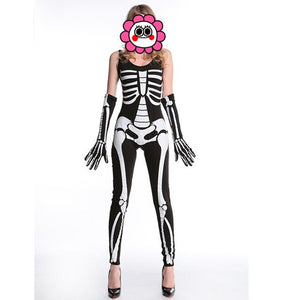 Skeleton Printed Horror Zombie Jumpsuits - Halloween USA