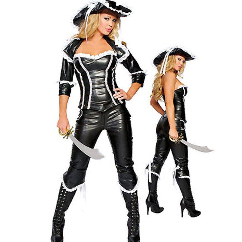 PVC Sexy Pirate Costume - Halloween USA