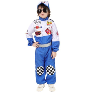 Race Car Driver  With Hat and Sliver Belt - Halloween USA