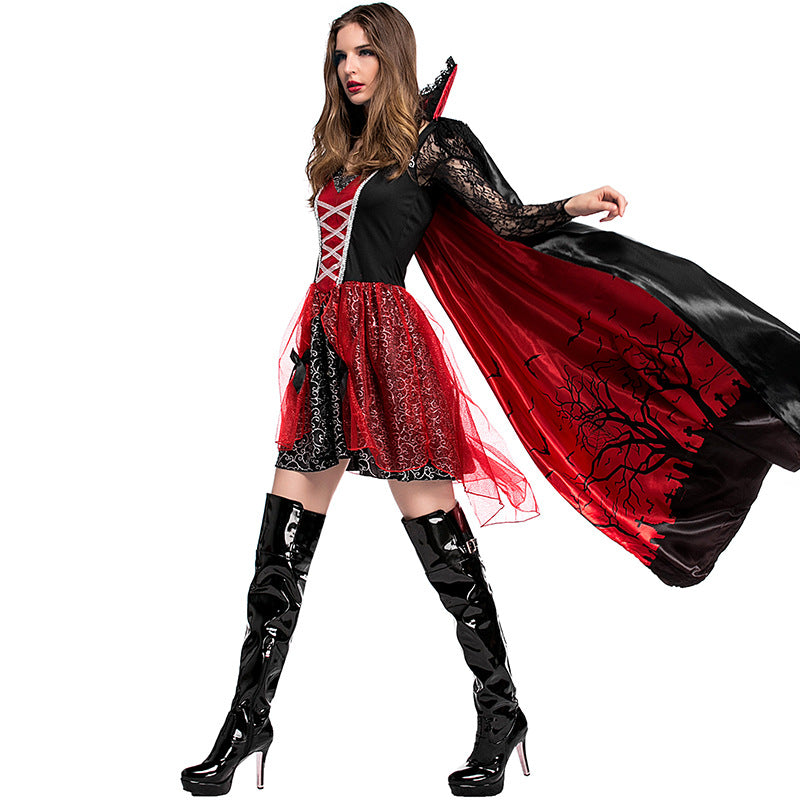 Gothic Vampire Queen Dress Cosplay Costume - Halloween USA