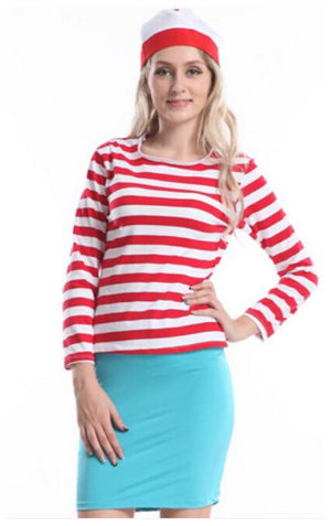 Female Wheres Wally Halloween Costume - Halloween USA