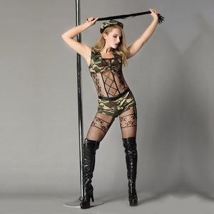 Sexy  Military Tops and Shorts Army Costume - Halloween USA