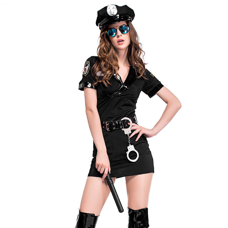 Ladies Police Women Costume - Halloween USA