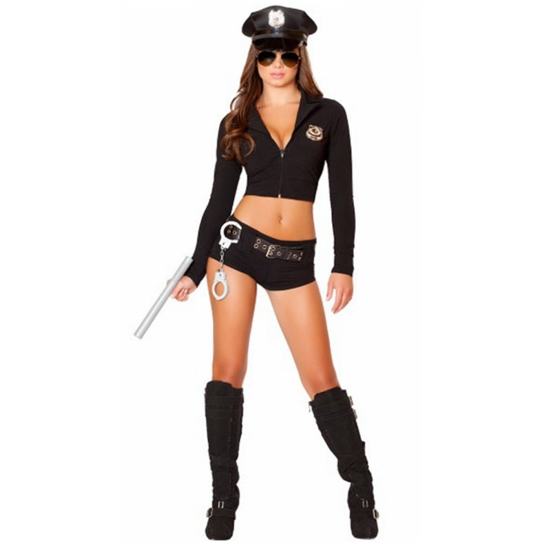 Women Naughty Police Officer Uniform - Halloween USA