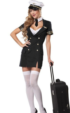 Captain Pilot Costume  For Women
