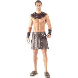 Mens Roman Gladiator Soldier Warrior Costume - Halloween USA