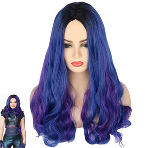 Long blue hair wig - Halloween USA