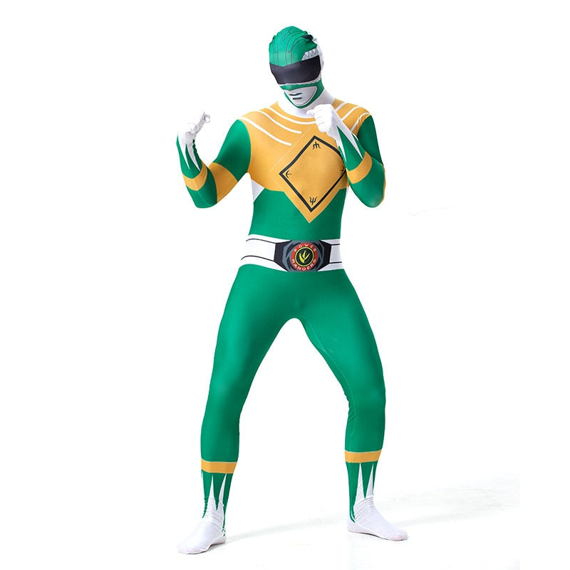 Men's Power Rangers Green Ranger Costume - Halloween USA