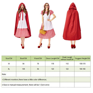 Little Red Riding Dress and Hood - Halloween USA