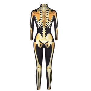 Adult size Skeleton Jumpsuit Costume - Halloween USA