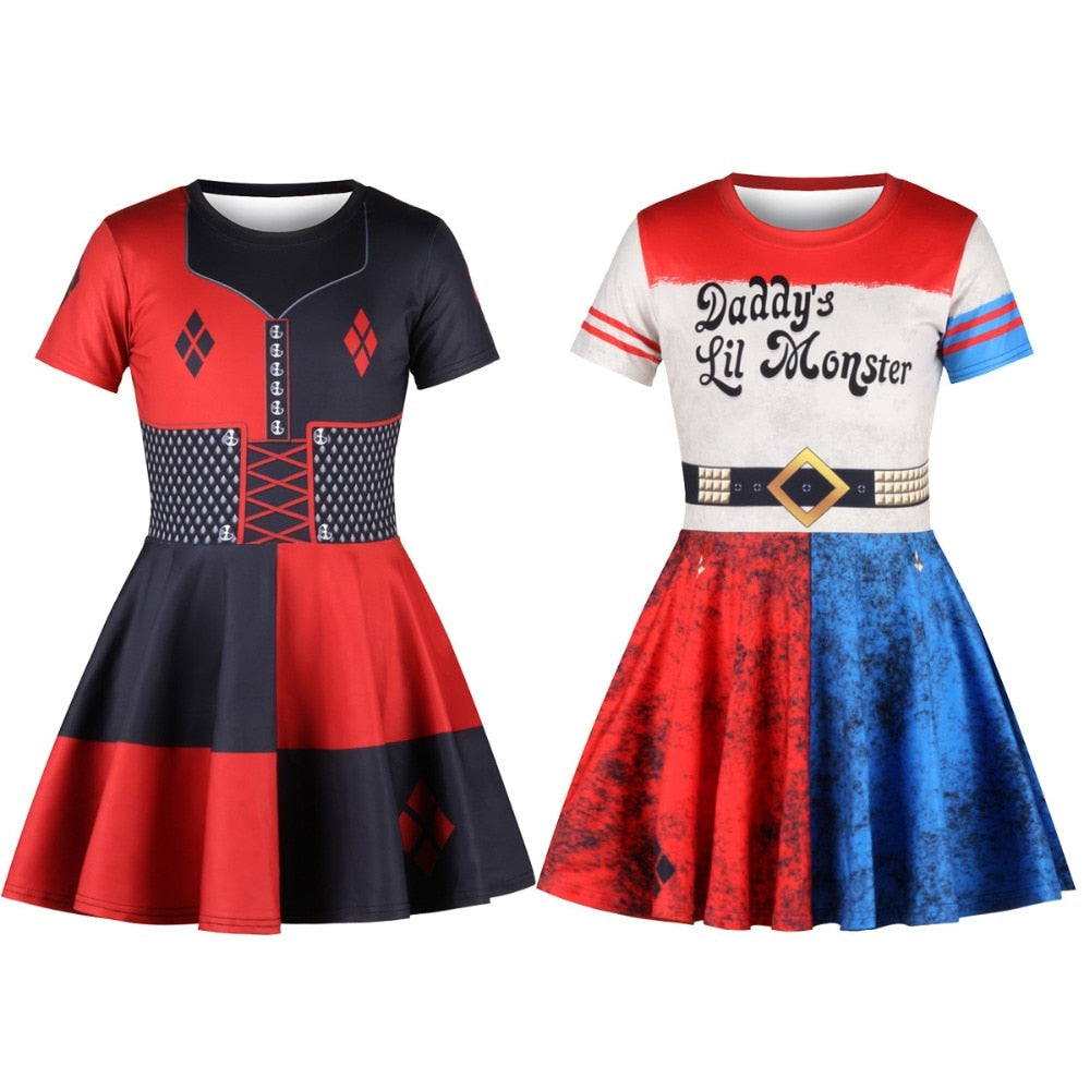 Kids Suicide Squad Harley Quinn Dress - Halloween USA