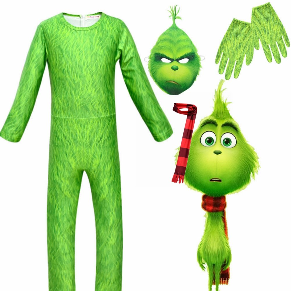 The Grinch Costume Kids Boys  Costumes - Halloween USA