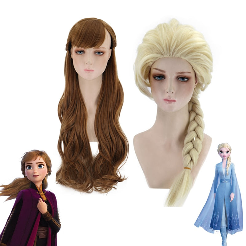 Princess Anna/Elsa Cosplay Wig - Halloween USA