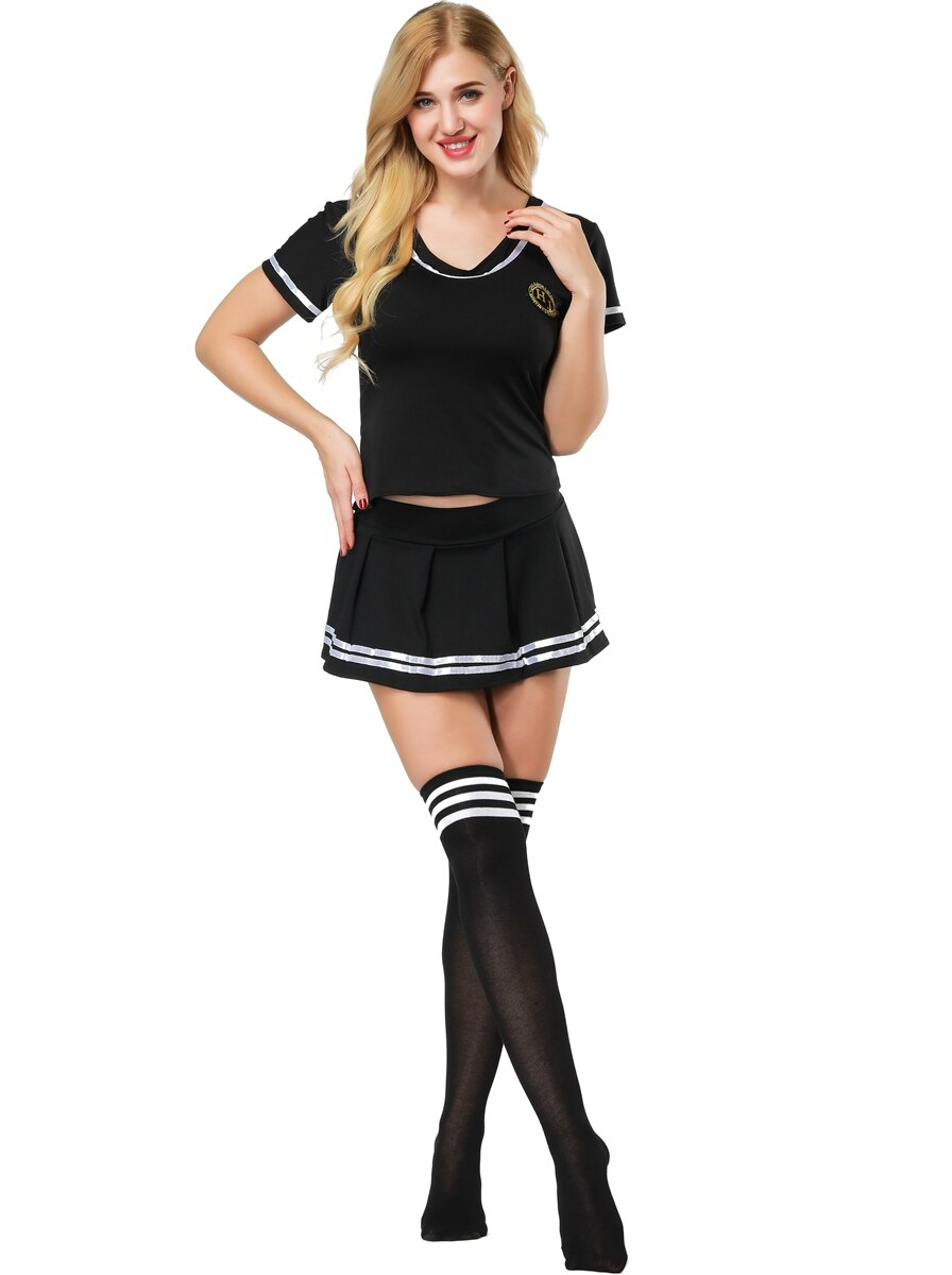 Sexy Football Cheerleader Costume With Stocking