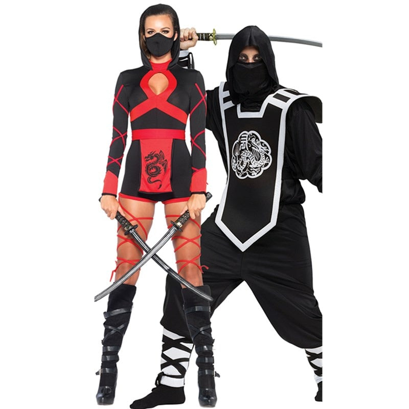 Ninja Couple Costume  for Women and  Men - Halloween USA
