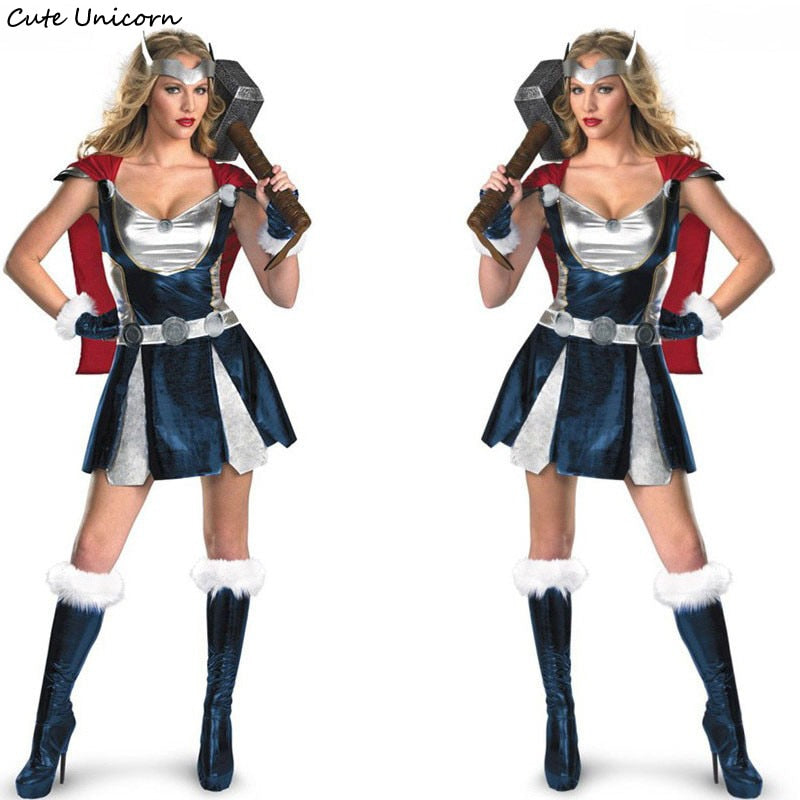 Sexy Thor Costume with Cloak - Halloween USA