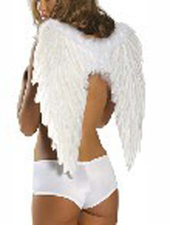 Feather Wings Set Black and White - Halloween USA