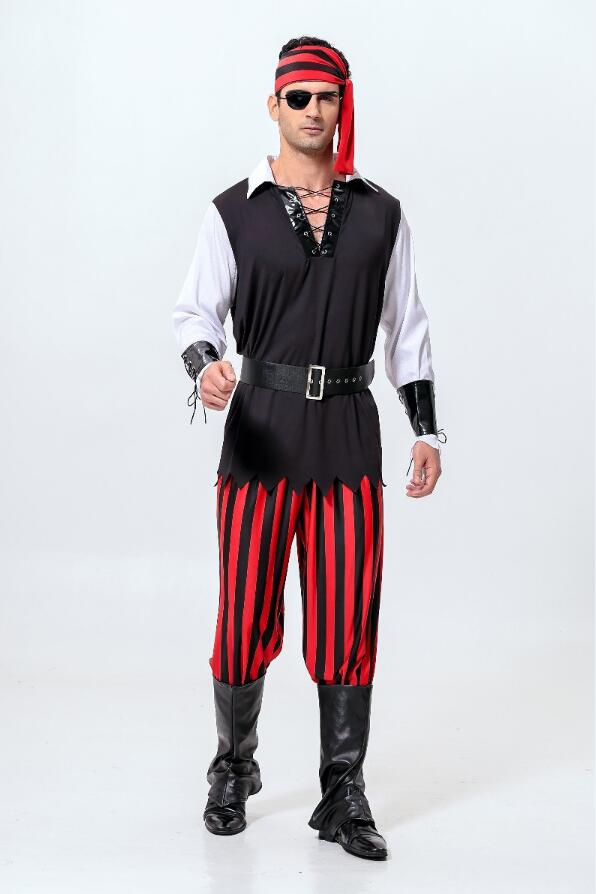 Adult Men Pirates Costume - Halloween USA