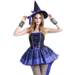 Purple Naughty  Witch Costume - Halloween USA
