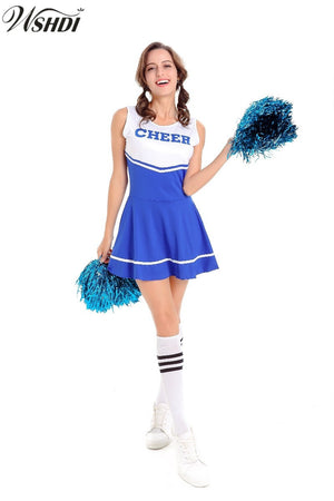 Hot Sale Blue Sexy High School Cheerleader Costume