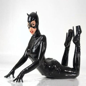 Faux Leather   Cat woman Catsuit Costume - Halloween USA