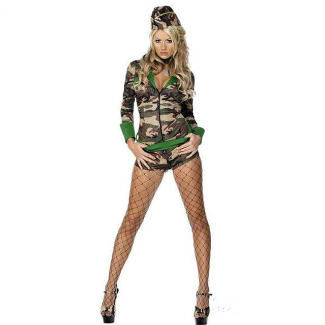 Sexy Army Uniform Costume - Halloween USA
