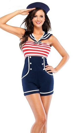Sexy Pin Up  Navy Costume - Halloween USA