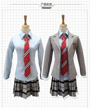 Japanese Anime School Uniforms  Suit Coat Skirt Tie - Halloween USA