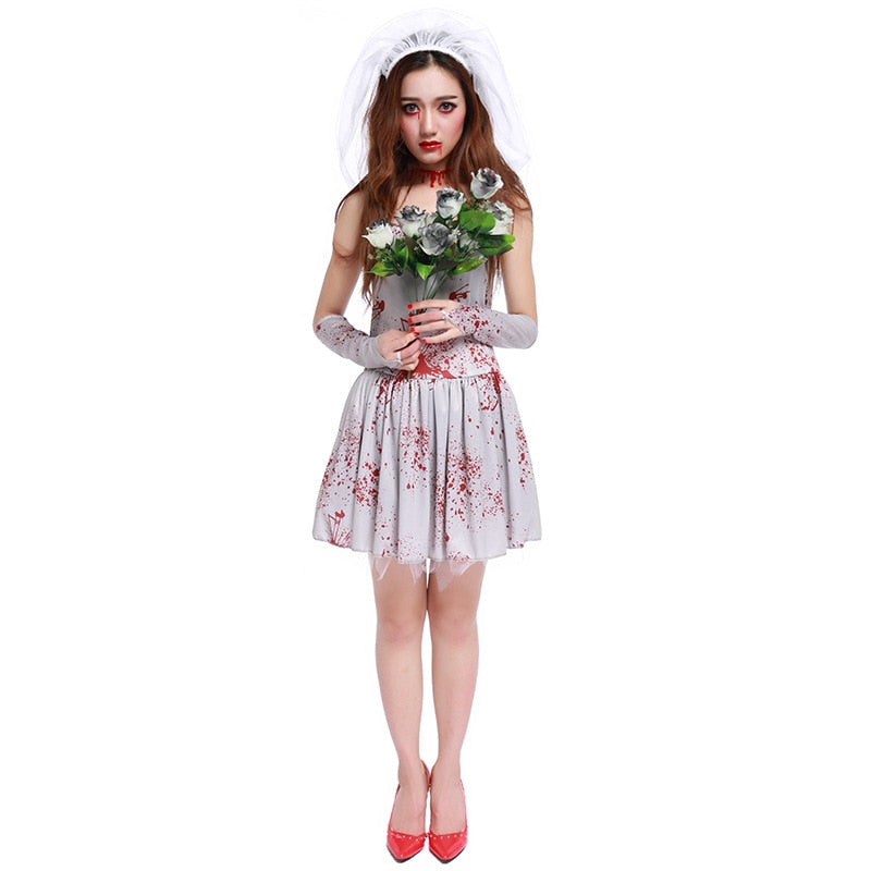 ghost bride horror costume