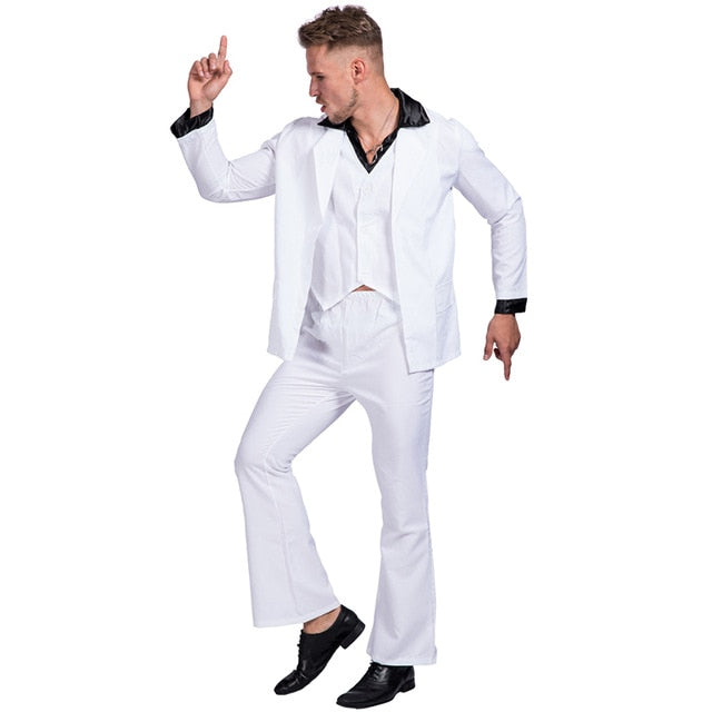 Retro Night Fever Dancer 80s Disco Stu Costume - Halloween USA