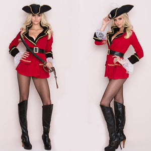 Hot Red Sexy  Pirate Costume - Halloween USA