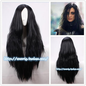 Ragnarok Hela Black Long Wig - Halloween USA