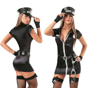 Sexy Female Policewomen Outfit - Halloween USA
