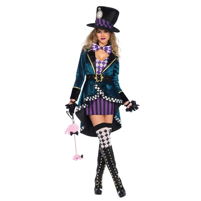 Sexy  Alice In Wonderland Mad Hatter  Costume - Halloween USA