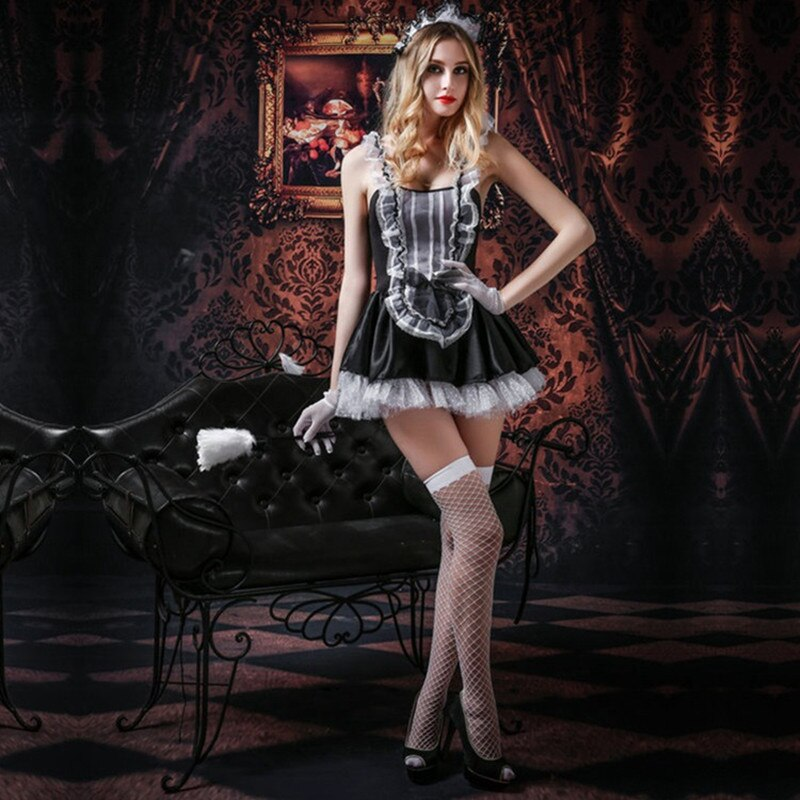 Sexy French Maid Costume - Halloween USA