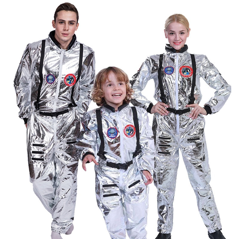 Space Suit  Costume  Jumpsuit Adult in Kids Mens and Women sizes - Halloween USA