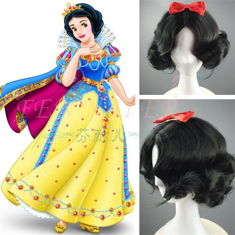 Snow White Curly Hair  Wig - Halloween USA