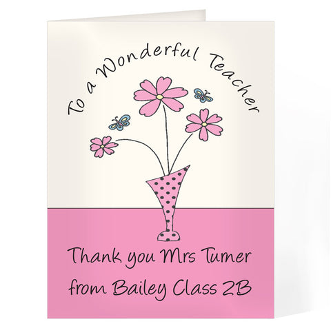 'Wonderful Teacher' Card