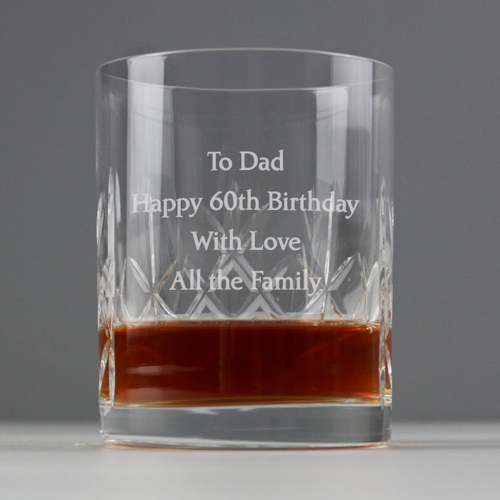 Crystal Engraved Whisky Tumbler
