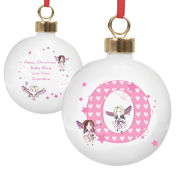Fairy Letter Christmas Bauble