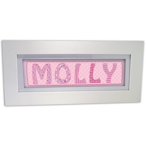 Pink Stitch Name Frame