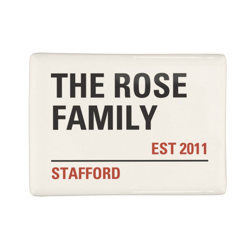 Personalised London Street Sign Fridge Magnet